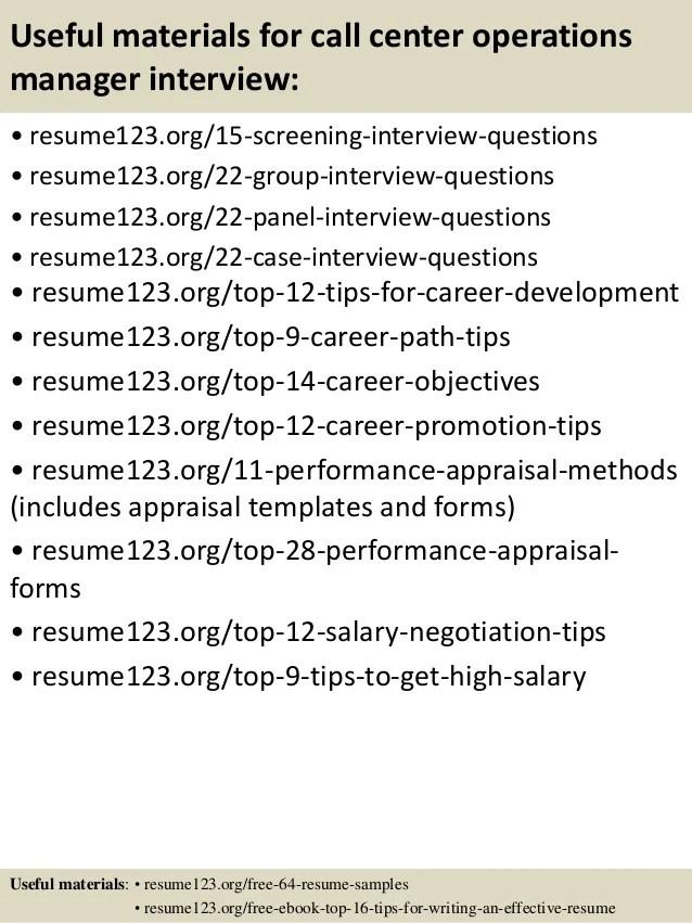 call center manager resume examples - Pinarkubkireklamowe
