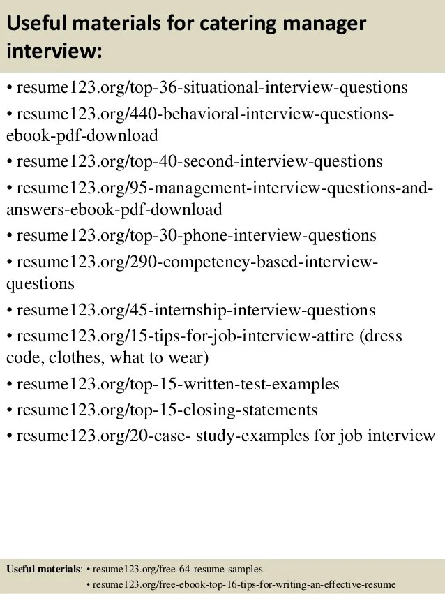 catering manager job description - Akbagreenw - catering manager sample resume