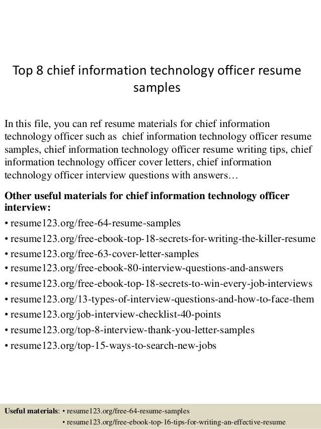 resume profile information officer