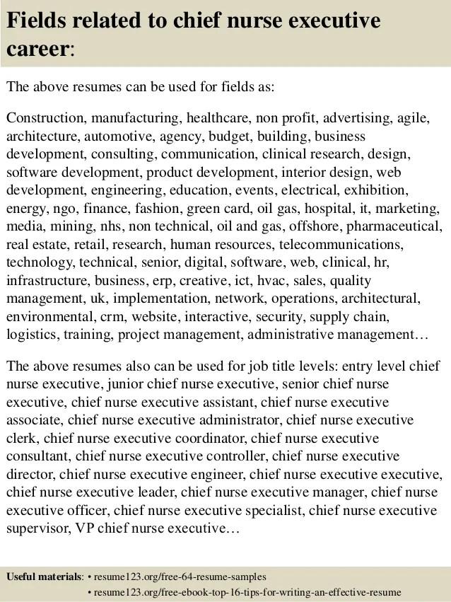 sample chief nursing officer resume - Minimfagency - sample resume for nurse