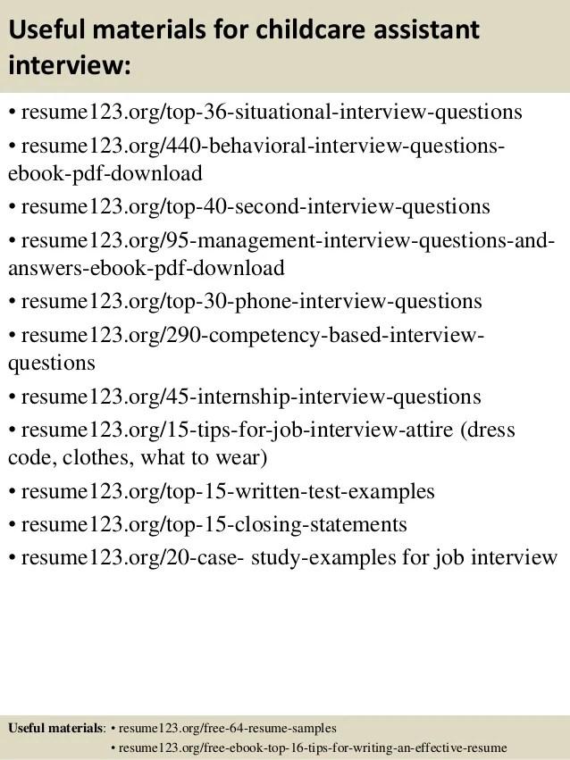 child care assistant resume sample - Kubreeuforic