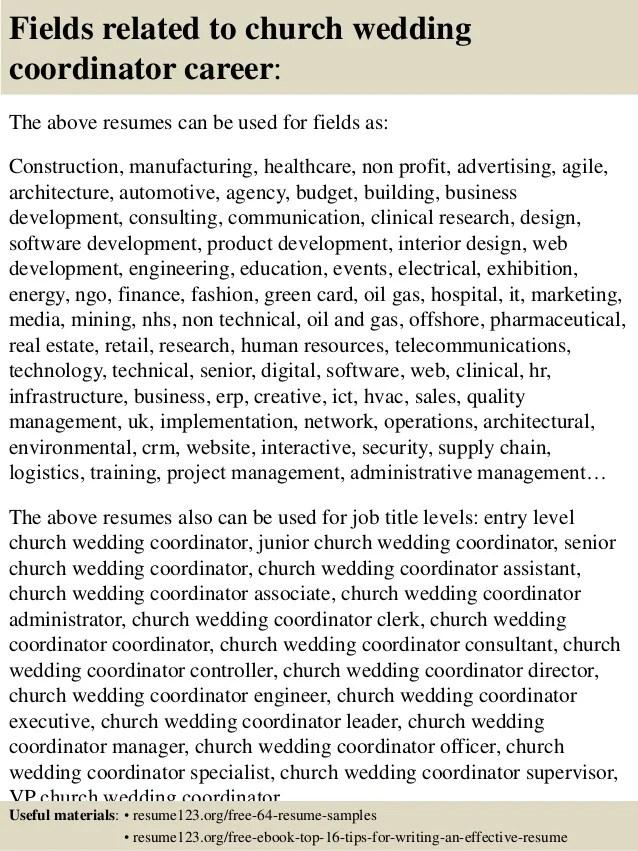 wedding coordinator resume - Yelomdigitalsite