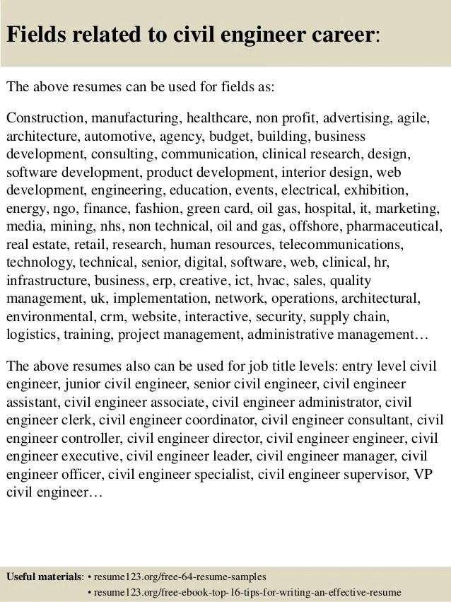 civil engineering resume tips - Josemulinohouse