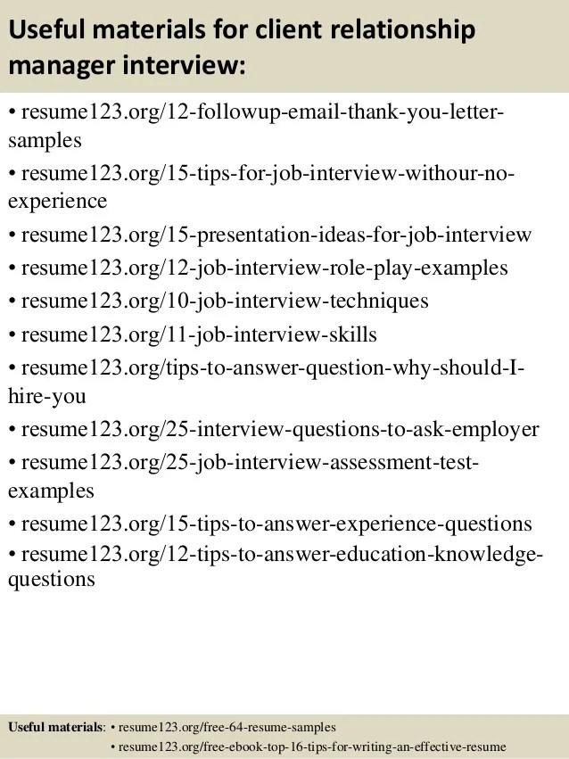 Resume Sample Bank Relationship Manager