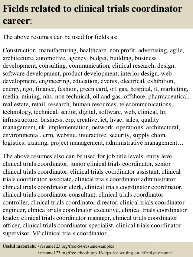 clinical research coordinator resume - Selol-ink - clinical research coordinator resume sample