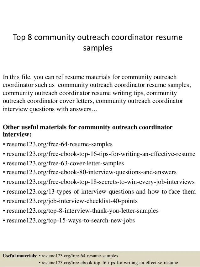 outreach coordinator resume - Yelommyphonecompany