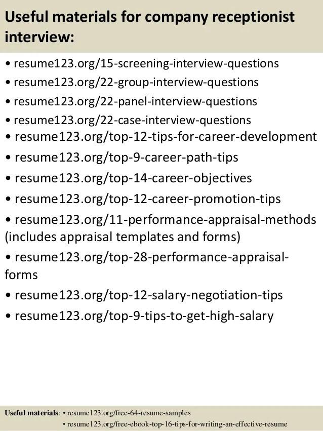 Receptionist Objective Resume 10 Best Resume Ideas Images On - receptionist objective for resume
