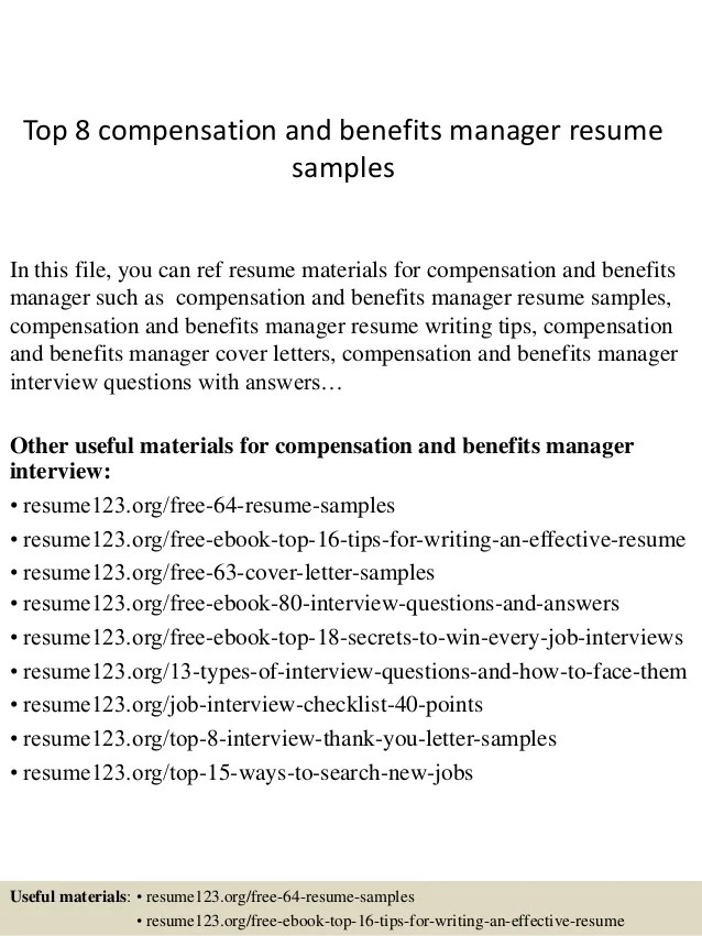 compensation manager resume - Selol-ink - compensation manager resume