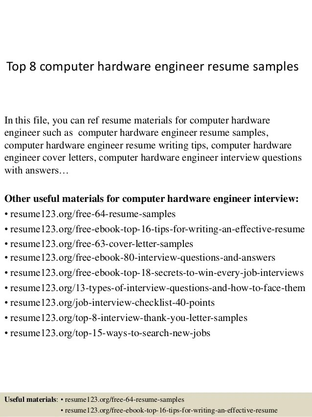 hardware engineer resume samples - Romeolandinez