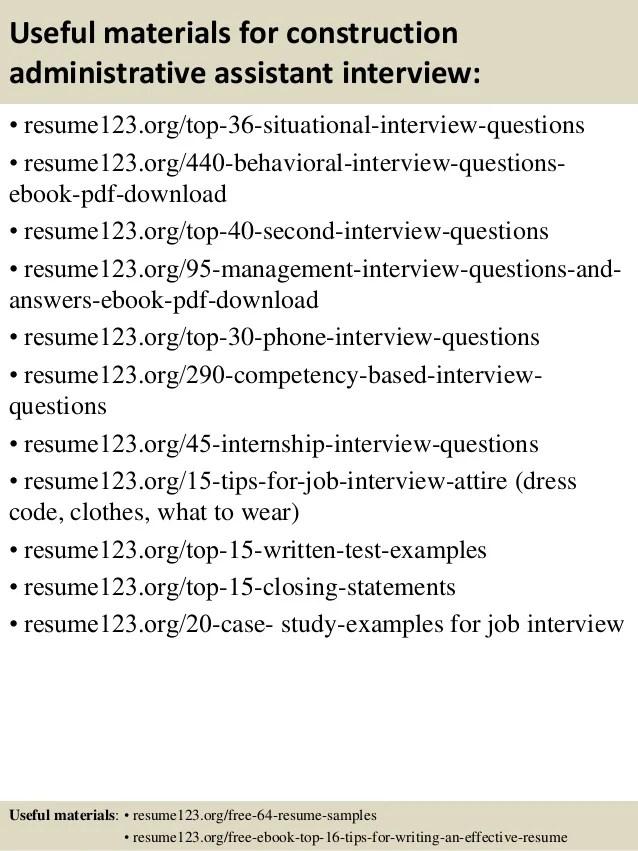 construction assistant resumes - Baskanidai - assistant resume
