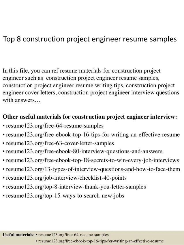 project engineer sample resume - Maggilocustdesign