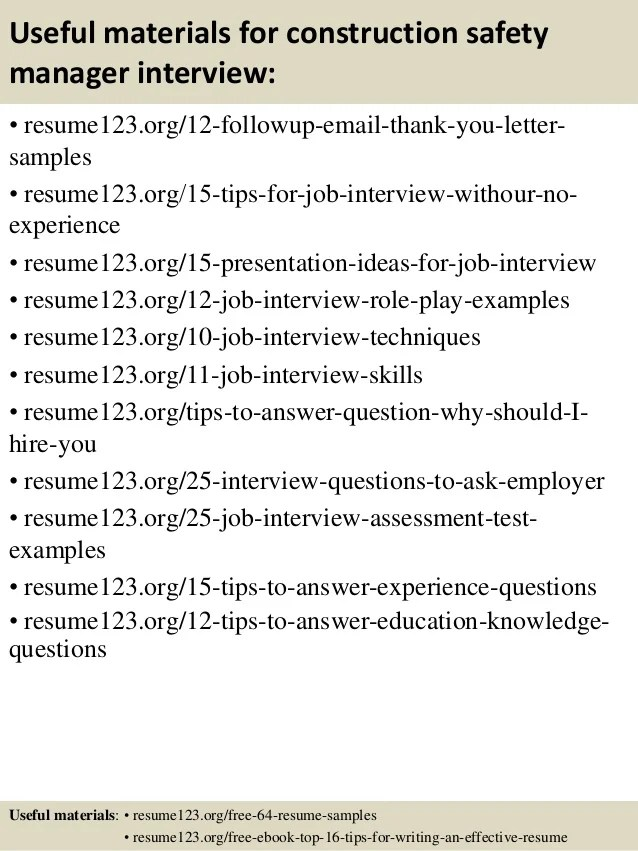 safety manager resume - Onwebioinnovate - fire safety manager sample resume