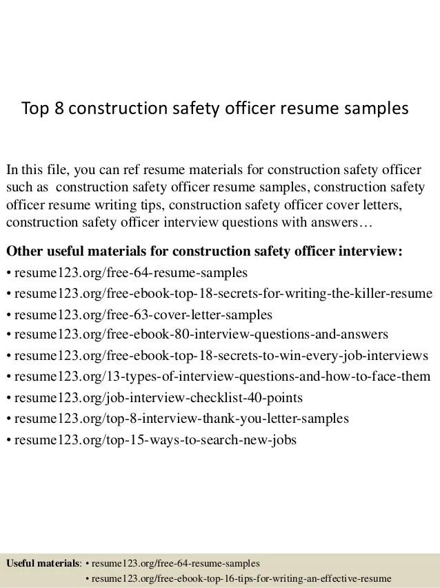 safety officer resume samples - Ozilalmanoof