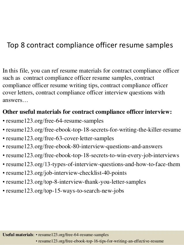 compliance officer cv