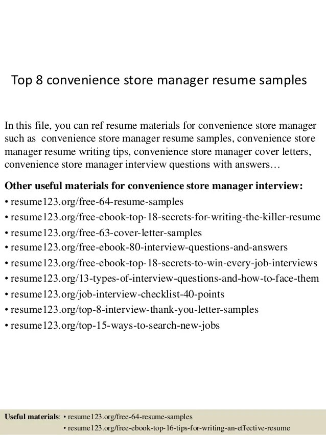 convenience store manager job description - Vatozatozdevelopment