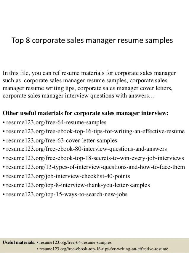 corporate sales resumes - Ozilalmanoof