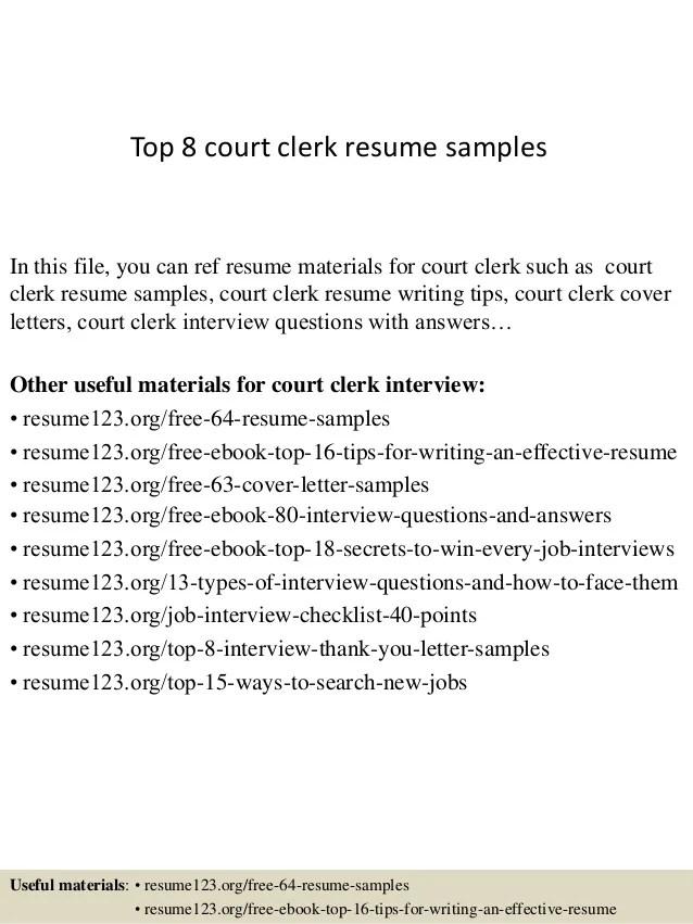 deputy clerk resume - Onwebioinnovate - deputy clerk sample resume