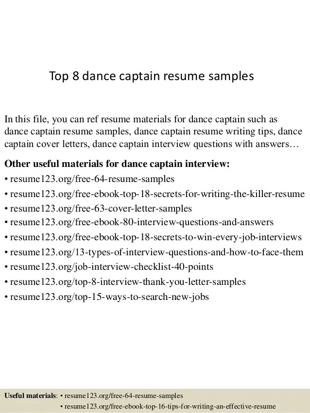 dance resume example - Intoanysearch - dance resume example