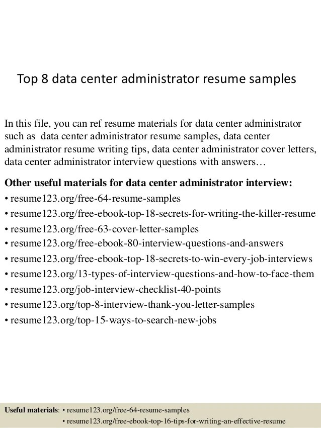 data center manager resumes - Josemulinohouse - powerschool administrator sample resume