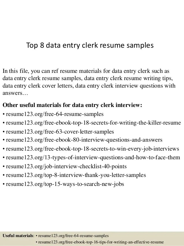 Cover Letter Samples Data Entry | Sample Resume Format For