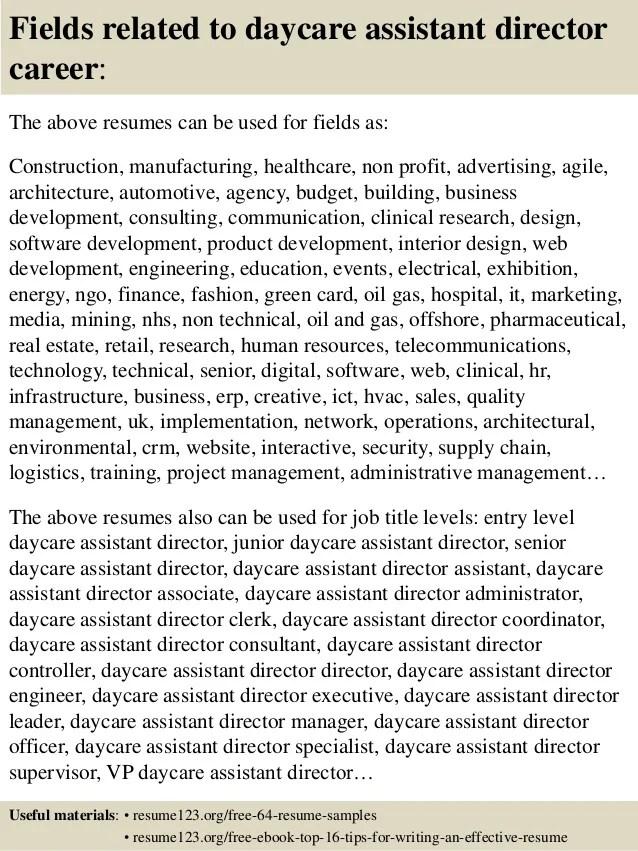daycare director resumes - Josemulinohouse - daycare attendant sample resume