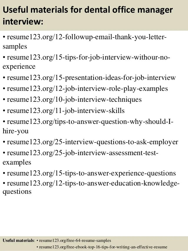 sample resume of office manager
