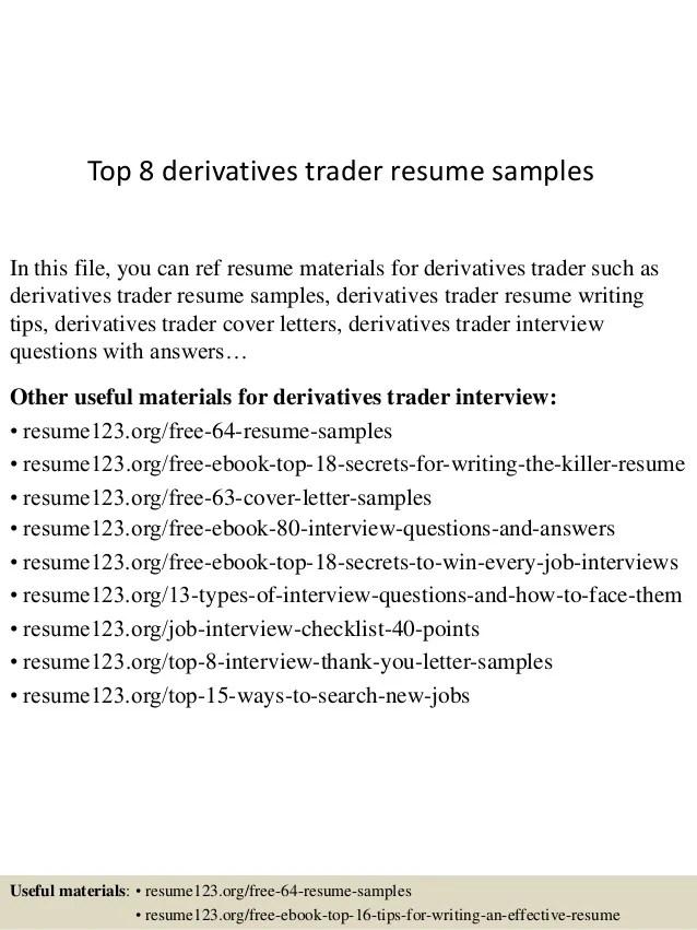 trader cv