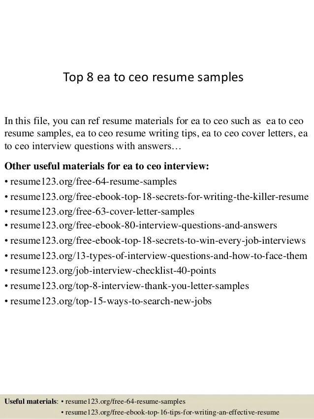free sample ceo resumes - Vatozatozdevelopment - examples of ceo resumes