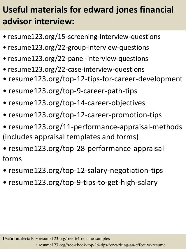 edward jones financial advisor salary - Baskanidai - financial advisor resume samples