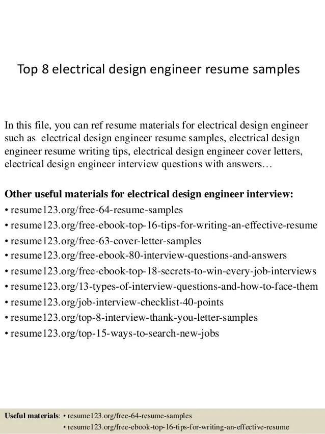 electrical designer resumes - Josemulinohouse