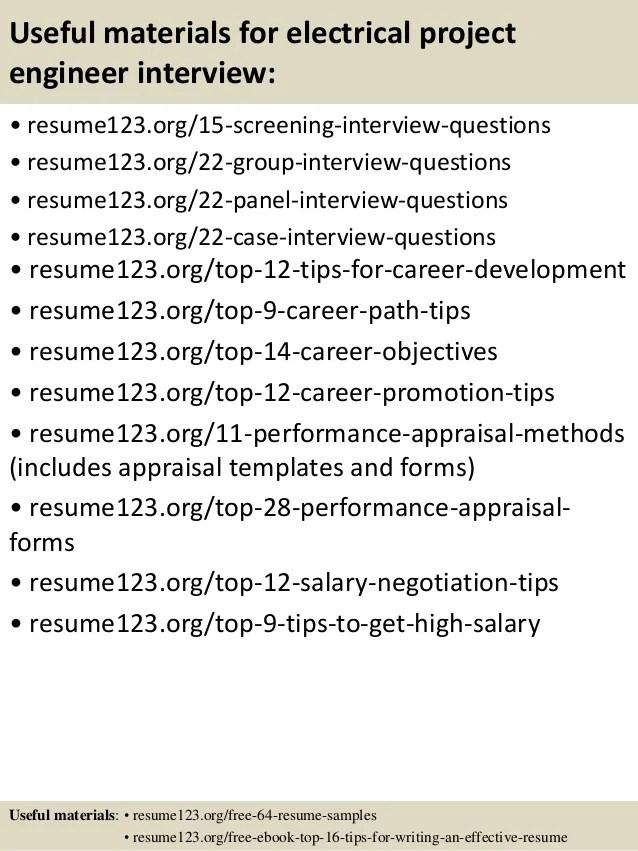 project engineer sample resume - Minimfagency