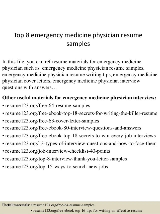 medical doctor resumes