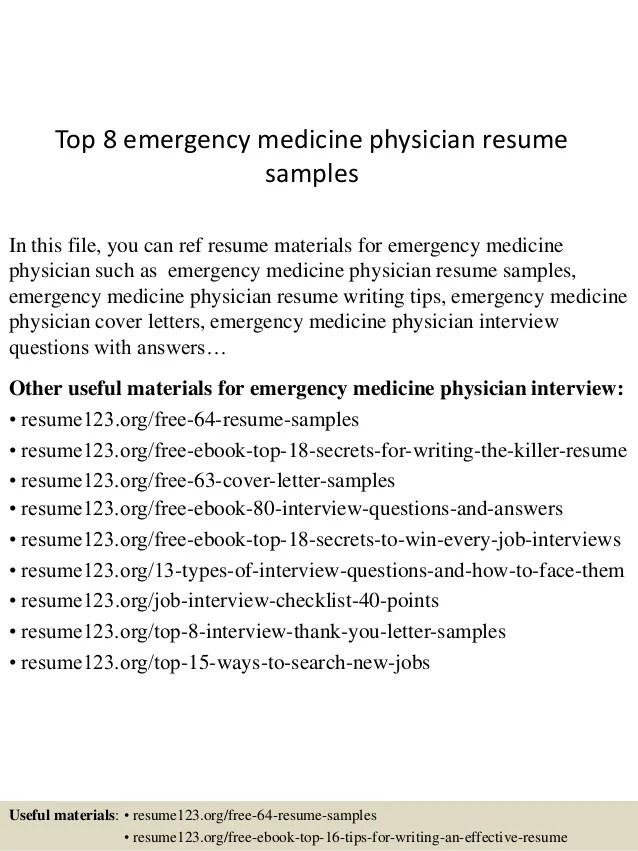 medical doctor cv