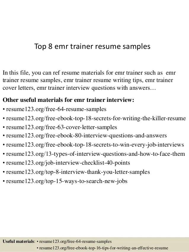 emr resume - Kubreeuforic