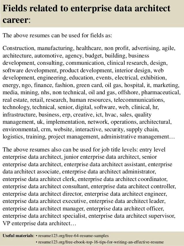 enterprise data architect resume - Minimfagency - pega architect sample resume