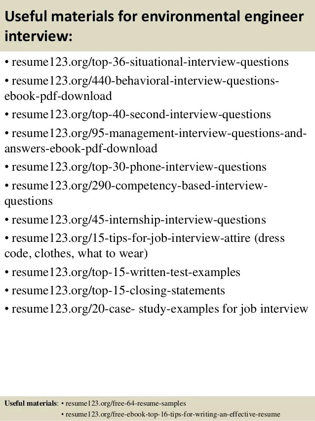 Resume Help Free Resume Writing Examples Tips To Write A Top 8 Environmental Engineer Resume Samples