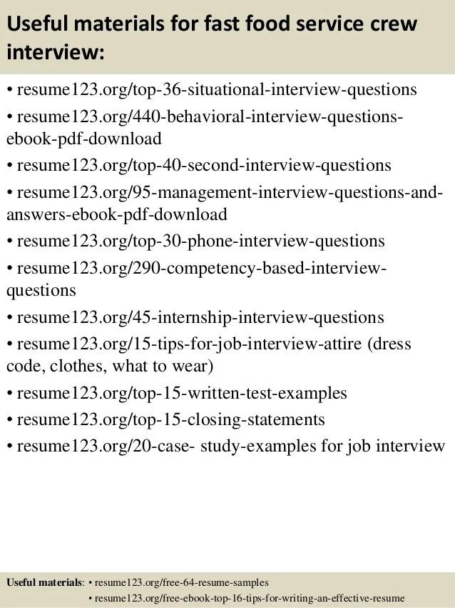 resume for fast food - Romeolandinez