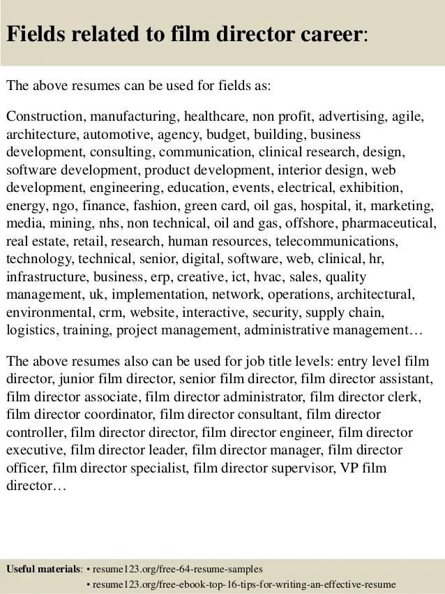 film assistant director resume sample - Onwebioinnovate