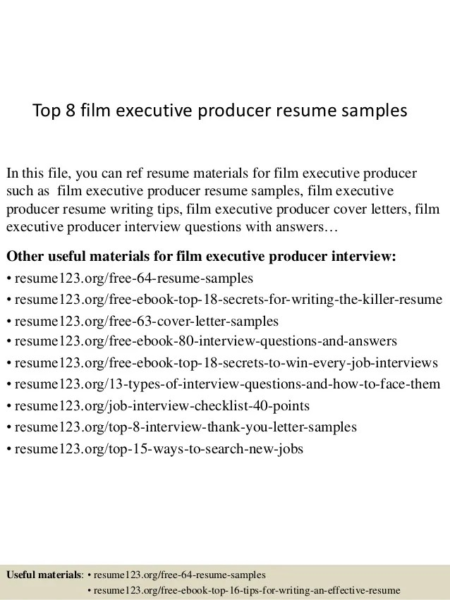 executive producer resume - Bire1andwap