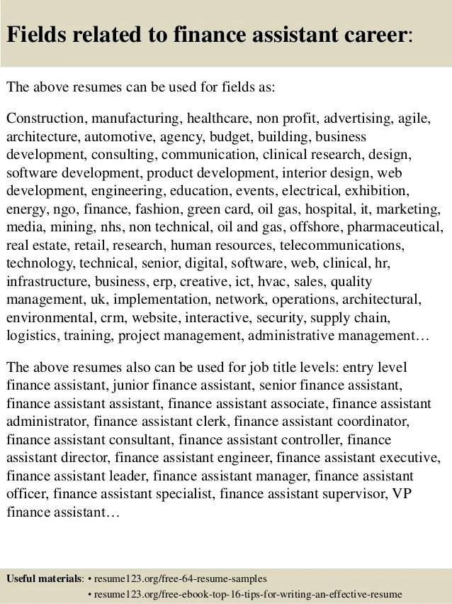 cv for finance assistant - Manqalhellenes - financial assistant job description
