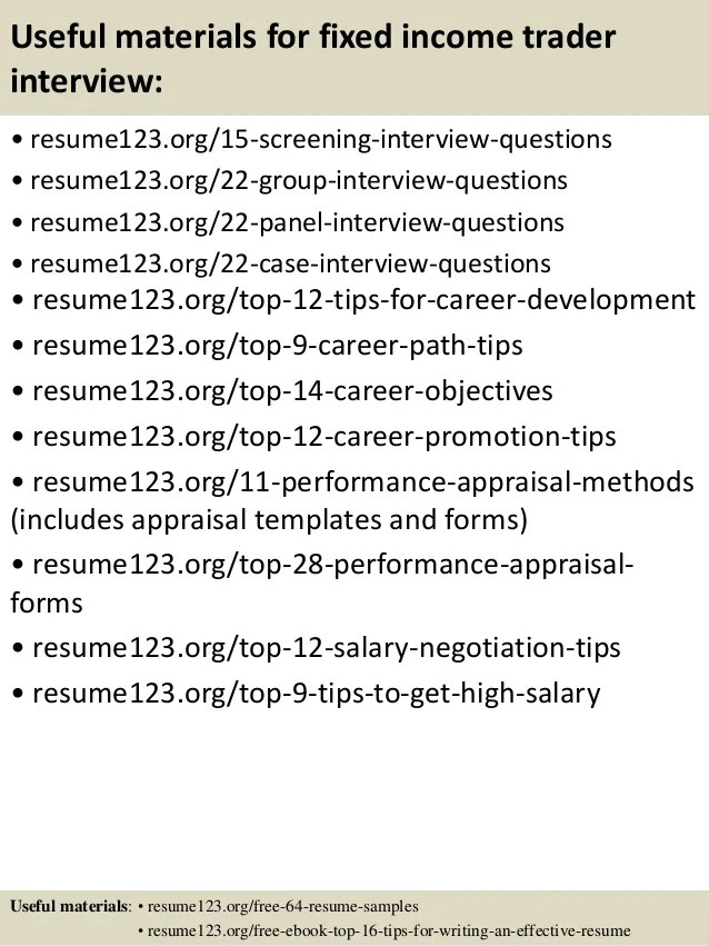 fixed income resumes - Jolivibramusic - junior trader resume
