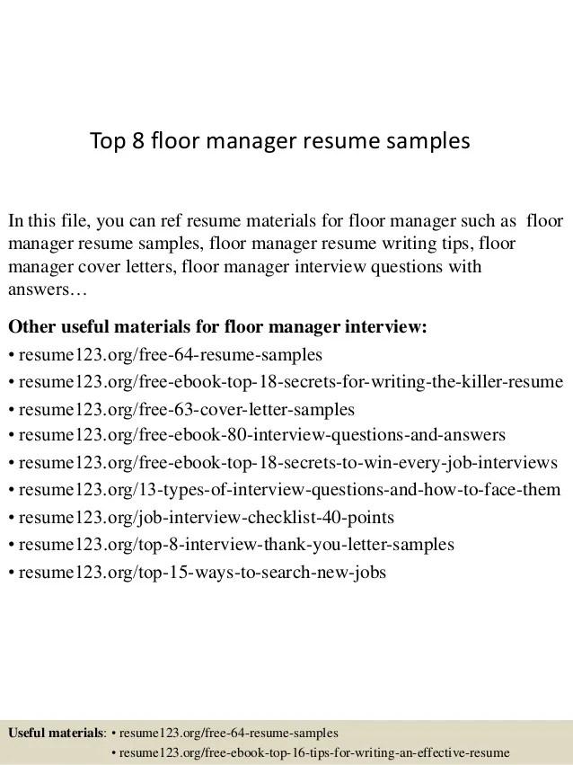 floor manager resumes - Alannoscrapleftbehind - wine club manager sample resume
