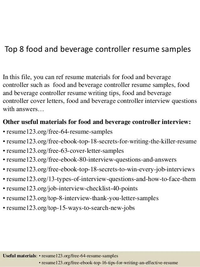 sample food and beverage cover letter - Intoanysearch - beverage server sample resume