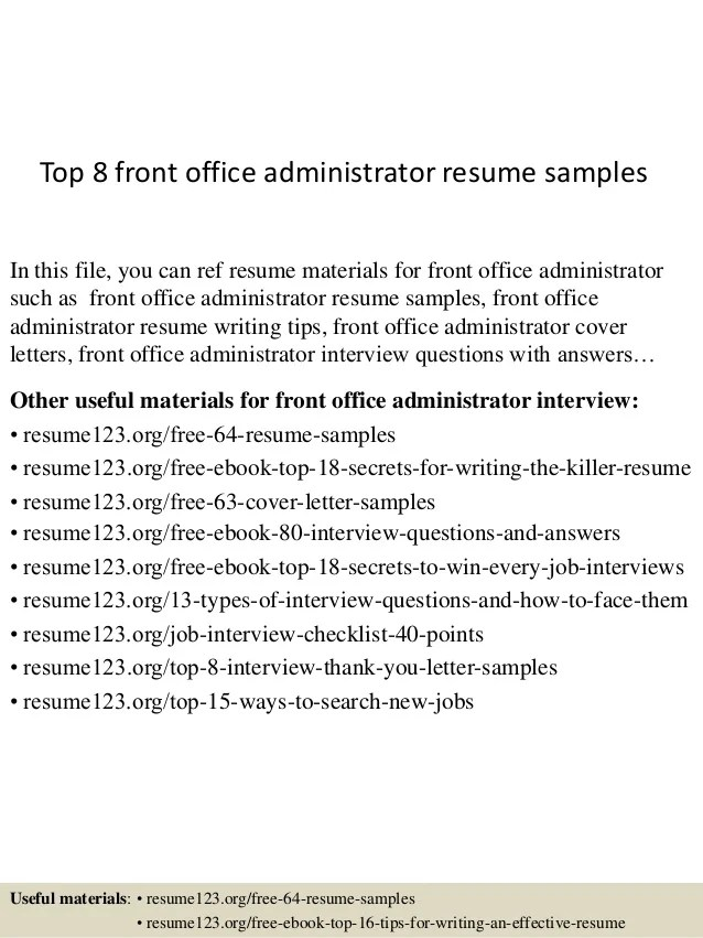 office admin resume samples - Josemulinohouse - sample resume office administrator