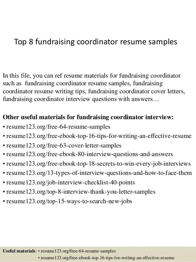 fundraiser resume samples - Onwebioinnovate