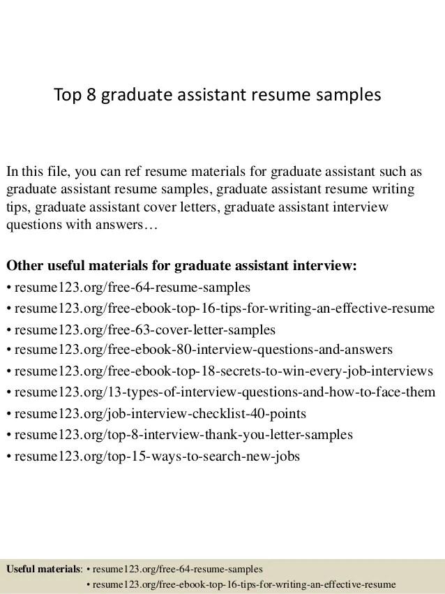 resume for graduate assistantship - Helomdigitalsite