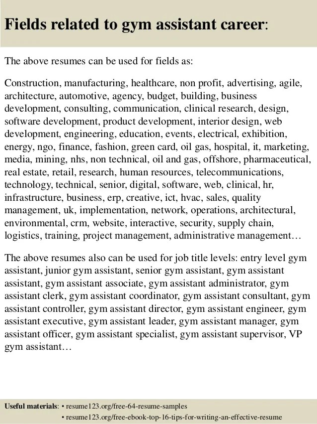 gym manager jobs resumes - Funfpandroid