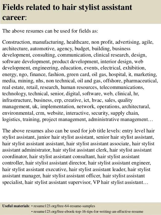 hair stylist assistant resume sample - Akbagreenw - hair assistant sample resume