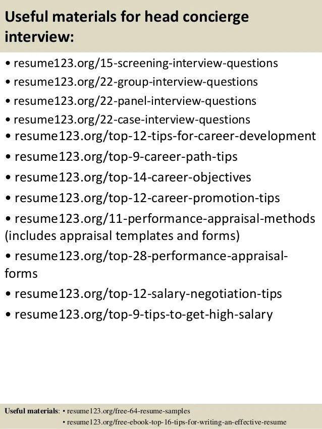 concierge resume objective - Jolivibramusic