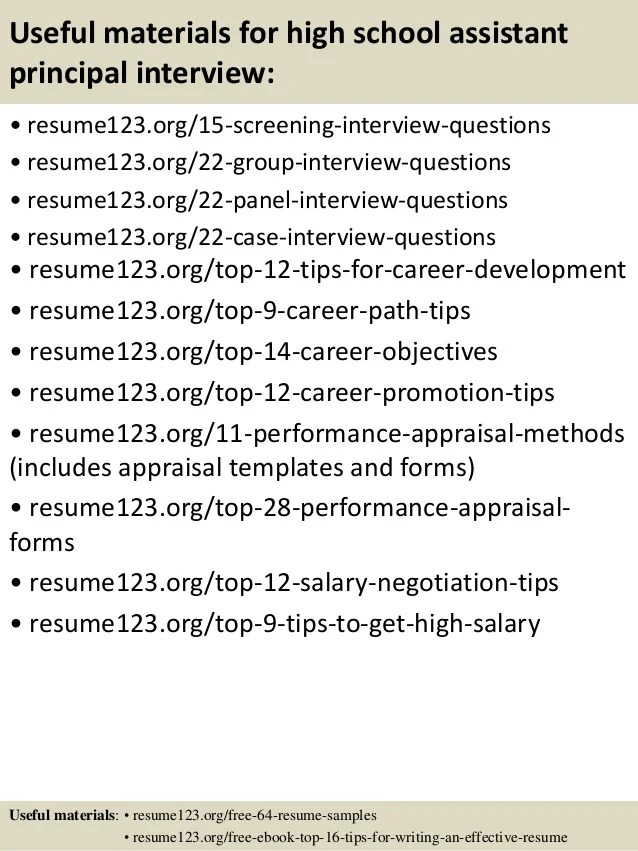 principal resume template - Jolivibramusic